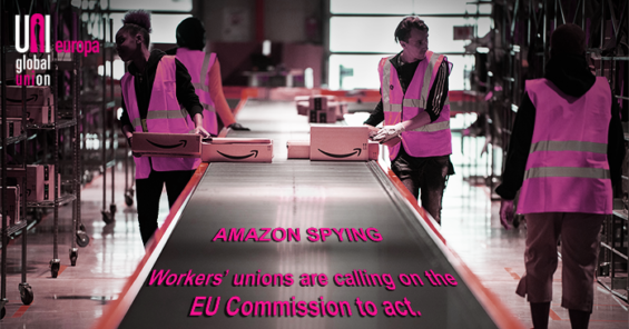 Coalition of unions calls on EU Commission to investigate Amazon's spying