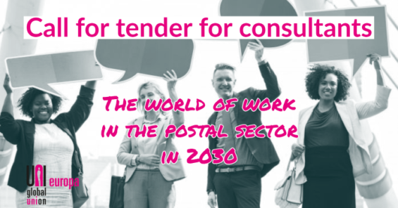 """Call for tender – SDC EU funded project """"The world of work in the postal sector in 2030"""""""