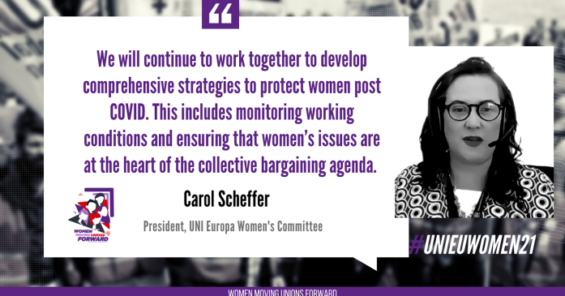 Carol Scheffer (CWU Ireland) elected new President of the UNI Europa Women's Committee