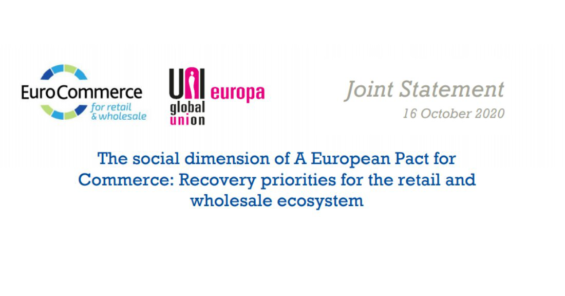 The social dimension of A European Pact for Commerce: Recovery priorities for the retail and wholesale ecosystem