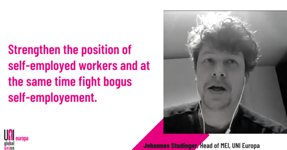 Motion 2: unions empower self-employed workers
