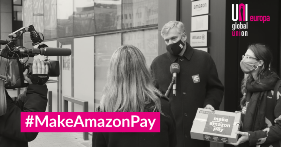 Video: handing over our common demands to #MakeAmazonPay