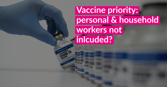 Personal and Household Services Workers Require Priority Access to COVID-19 vaccine – EFFAT – EFFE – EFSI – UNI-Europa Joint Statement