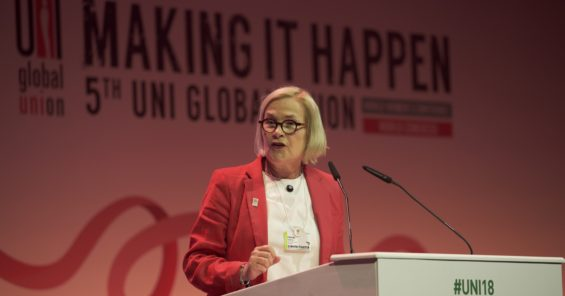 """Christy Hoffman to World Women's Conference – """"We must take the opportunity to eliminate sexual harassment"""""""