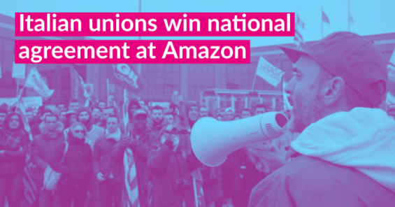 After massive mobilization, Italian unions reach historic national agreement with Amazon