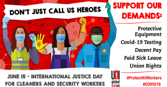 Justice Day: cleaners and security workers put 7 demands to the European Commission (video)