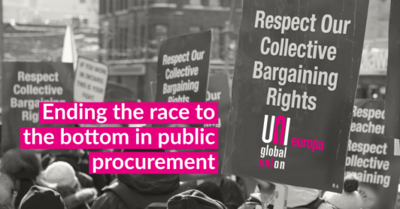 Service sector unions call on the European Commission to change €2 trillion public procurement rules