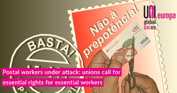 Postal workers under attack:unions call foressentialrights for essential workers