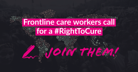 Care workers call on the European Commission to allow global vaccination rollout