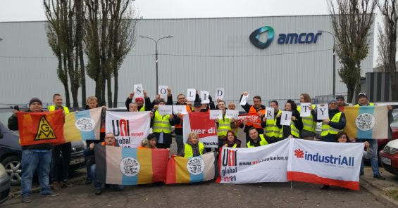 European trade unions hail successful organising action at Amcor in Poland